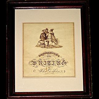Pen & Ink Calligraphy by John Graham, c. 1835