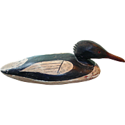 Hollow Carved Merganser Decoy w/ Original Paint