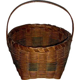 Signed Miniature Basket, c. 1900-1920