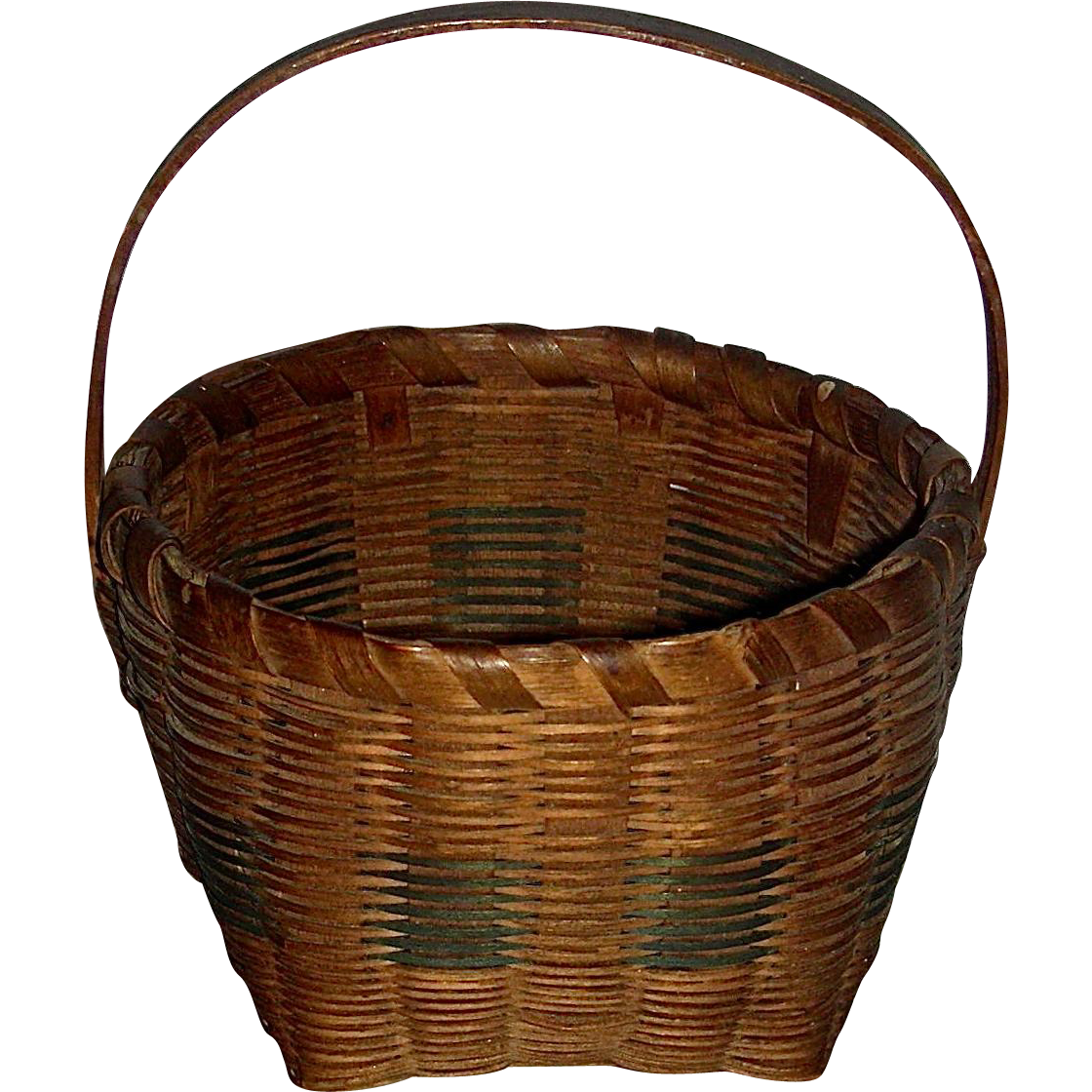 Signed Miniature Basket, c. 1900-1920
