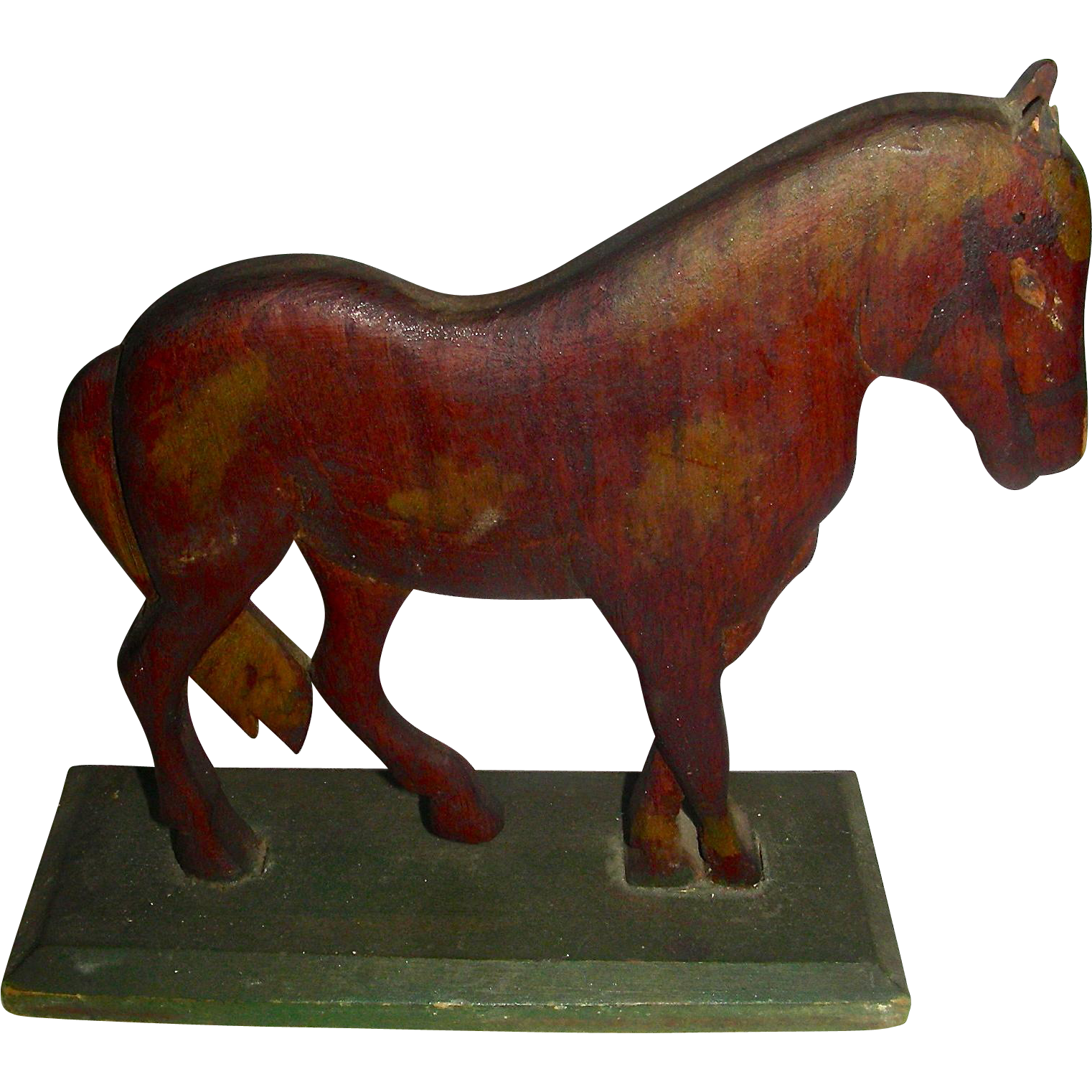 Small Carved Wooden Horse w/ Original Paint, c. 1900