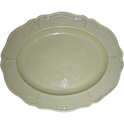 Small Oval English Creamware Platter w/ Molded Edge, c. 1820