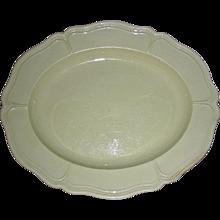 Small Oval English Creamware Platter w/ Molded Edge, c. 1820