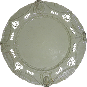 Elaborate Molded English Creamware Shell Edge Plate w/ Pierced Decoration, c. 1800