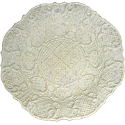 English Molded Salt Glaze Dish, c. 1760