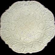 English Molded Salt Glaze Dish, c. 1760