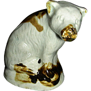 Staffordshire Creamware Toy Bear, c. 1790-1800
