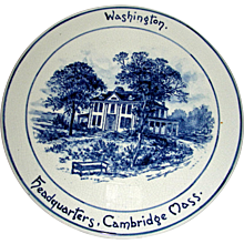 Volkmar Pottery Historical Plaque: Washington's Headquarters, Cambridge, Mass. c. 1900