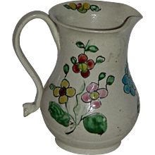 Very Small Decorated English Salt Glaze Cream Jug, c. 1760