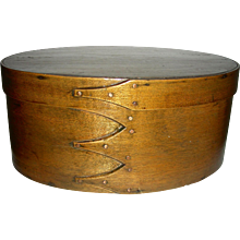 "11 ¼"" Oval Shaker Box w/ 4 Fingers"