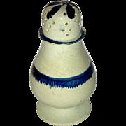 "4 ½"" Staffordshire Pearlware Pepperpot w/ Blue Enamel Decoration, c. 1820"