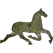 Sheet Metal Running Horse Silhouette