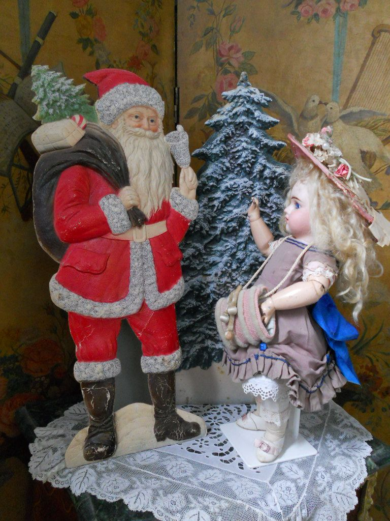 ~~~ Wonderful German Christmas Tree Cardboard Display ~~~