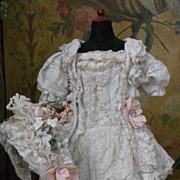 ~~~ Most beautiful French Muslin Dress with Bonnet ~~~