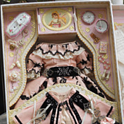 ~~~ Superb French Poupee Costume Presentation in Box ~~~