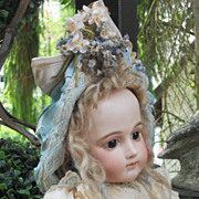 ~~~ RESERVED for B. ~~~ Most Beautiful French Summer Silk Dress with Bonnet ~~~