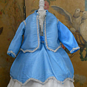 ~~~ Pretty Early Five Piece Fashion Doll Dress / around 1870 ~~~