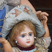 ~~~RESERVED FOR El. ~~~ French Bisque Bebe with Walking Body by Emile Jumeau ~~~