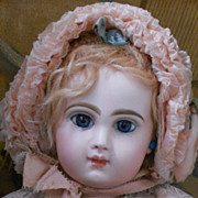 ~~~RESERVED ~~~  Amazing French Bisque BeBe Jumeau Size 8 ~~~