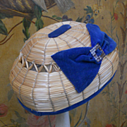 ~~~ Pretty 19th. century Bamboo Bourrelet Cap ~~~