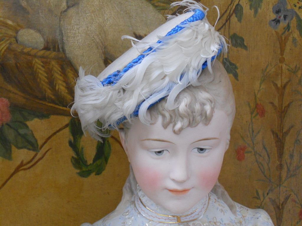~~~ Wonderful Rare French Poupee Hat / 1870 ~~~