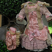 ~~~ Pretty Pink French Bebe Summer Costume with Bonnet ~~~