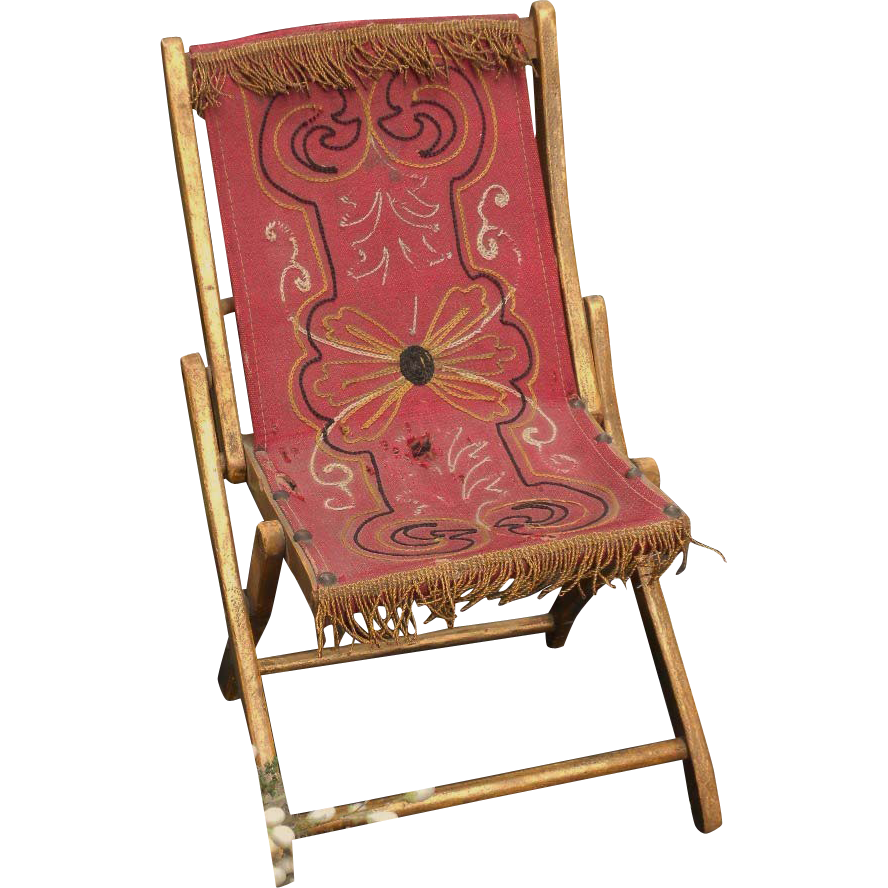 pretty french garden folding chair with gold accents