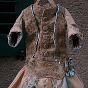 ~~~ Amazing French 18th. Hand-Embroidery Bebe Gown ~~~