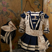 ~~~ Most Elegant French Bebe Sailor Costume ~~~