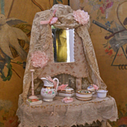 ~~~ON HOLD !!! /  Outstanding French Poupee´s Toilette Table ~~~