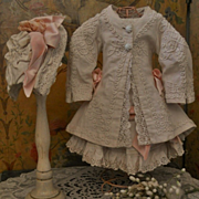 ~~~ Fantastic French Three Piece Pique Bebe Costume ~~~