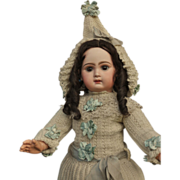 ~~~ Very Beautiful Bebe Jumeau wearing Original Jumeau Winter Costume ~~~