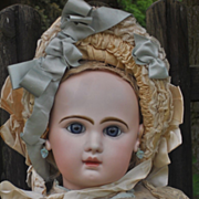 ~~~ Stunning large French Bisque Bebe by Jumeau in Jumeau Factory Box ~~~