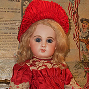 ~~~ Nice French E.J. Bisque Bebe by Jumeau with Fabulous Costume ~~~