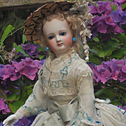 ~~~ Delicate French Bisque Poupee with Marvelous Costume ~~~