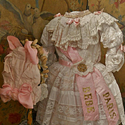 ~~~ Stunning French Bebe Costume with Bonnet ~~~