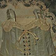 ~~~ Pretty Original Jumeau Silk Corset Size 10 ~~~