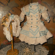 ~~~ Beautiful Navy Style French Bebe Costume with Bonnet ~~~