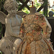 ~~~ Gorgeous French Silk Sateen Bebe Costume ~~~