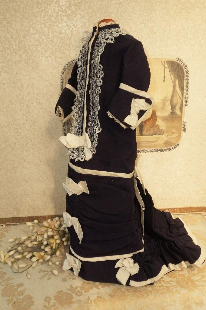 ~~~ Nice 1880th. century Original Blue Poupee Costume ~~~