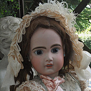 ~~~ Reserved for R & A  // Pretty French Bisque Bebe Jumeau Girl in Elegant Costume ~~~