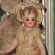 ~~~ Pretty French All-Bisque Mignonette in Original Costume and Condition ~~~