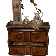 ~~~ Pretty Wooden Chest with Marble Top and Accessory ~~~