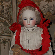 ~~~  Beautiful Early French Poupee with Gorgeous Costume ~~~