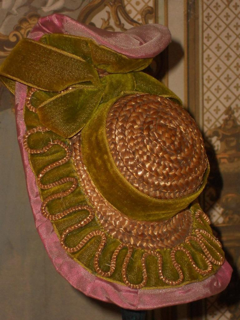 """~~~ Early French Poupee Bonnet """" A Deux Bonjours"""" ~~~"""