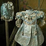 ~~~ Most Beautiful Aqua Silk Costume with Bonnet ~~~