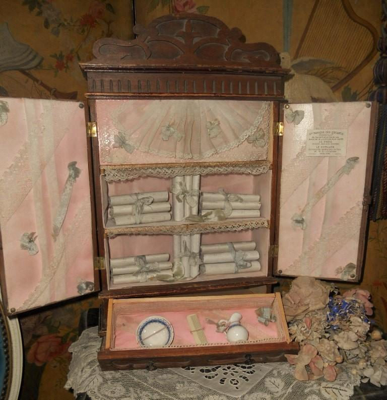 rare bebe s wooden petite armoire from paris doll. Black Bedroom Furniture Sets. Home Design Ideas