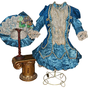 ~~~ Beautiful French Silk Bebe Costume with Couture Hat ~~~