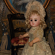 ~~~ Most Beautiful Tiny French Bebe Costume with Bonnet ~~~