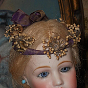 ~~~ Antique Orange Blossom Poupee Coronet in Box ~~~